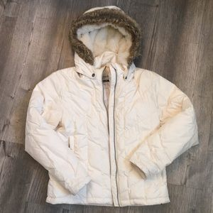 Columbia Down Winter Coat with Faux Fur Hood